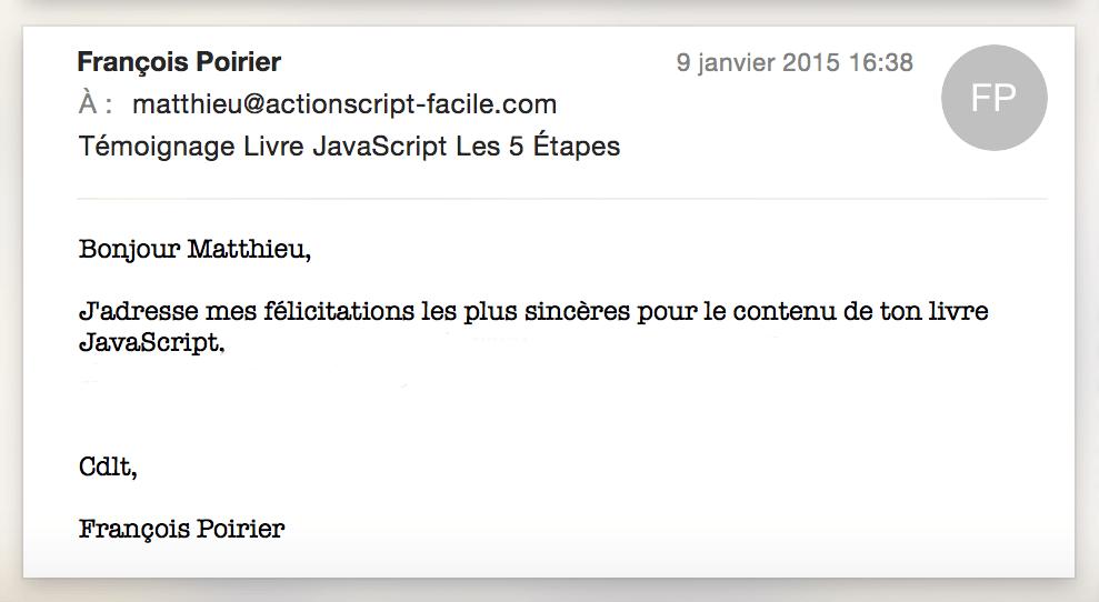 Témoignage de François sur le Livre Les 5 Étapes pour Créer des Applications Performantes !